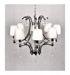 Lampadario classico in metallo e cristallo a 8 punti luce