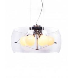 Lampadario a sospensione moderno di design in vetro trasparente a 6 lampae NANO D50