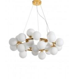 Lampadario a sospensione di design moderno 25 luci a sfere in vetro DNA SP25 - Ideal Lux