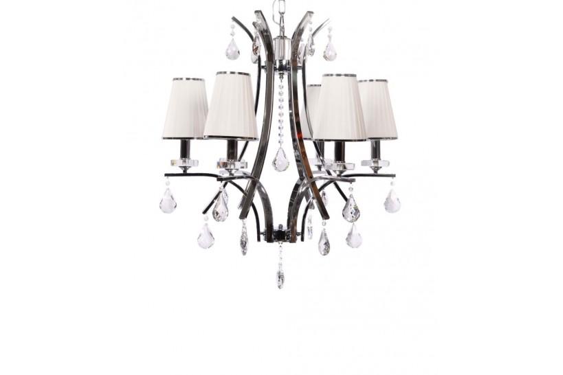 Lampadario di cristallo Glamour W6 Bianco