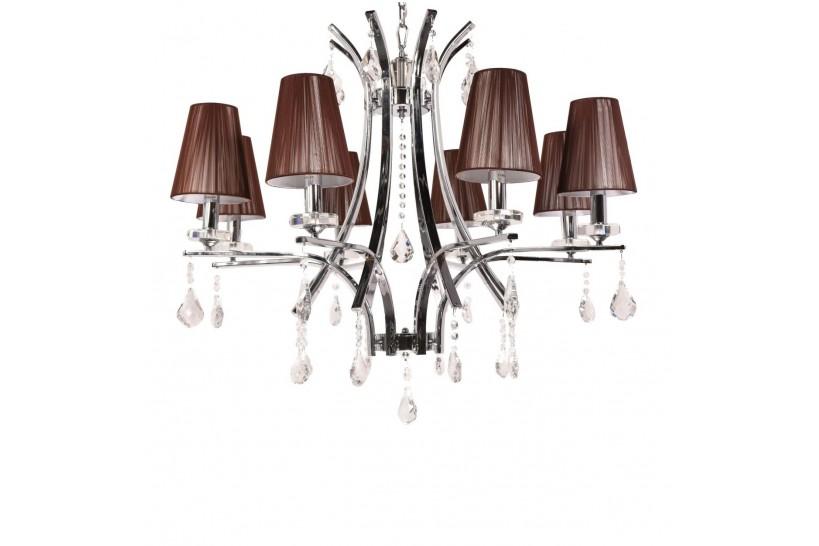 Lampadario di cristallo Glamour W8 Marrone