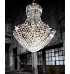 Lampadario a sospensione di cristallo Stili d'Arte Stile Impero Luxor Cristallina LDP 10423