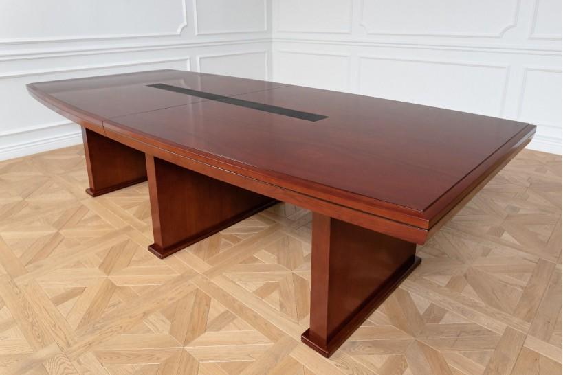 Tavolo da conferenza e riunione in stile classico per ufficio o studio professionale PRESTIGE S610 da 2,8 Metri