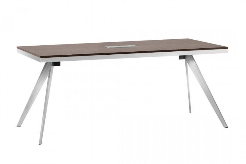 Tavolo da riunioni rettangolare per ufficio moderno PLATINUM 18B da 180 cm