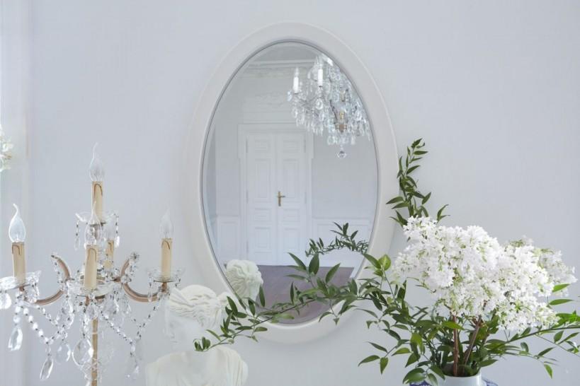 Specchio ovale Princess 829 colore Bianco