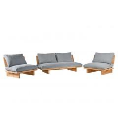 divano e poltrone in legno casa montagna