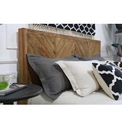 letto con testata legno naturale