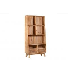 libreria rustica legno naturale