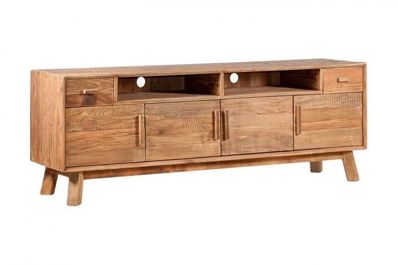 cassettiera industrial legno per televisione