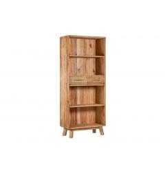 libreria scandinava legno naturale