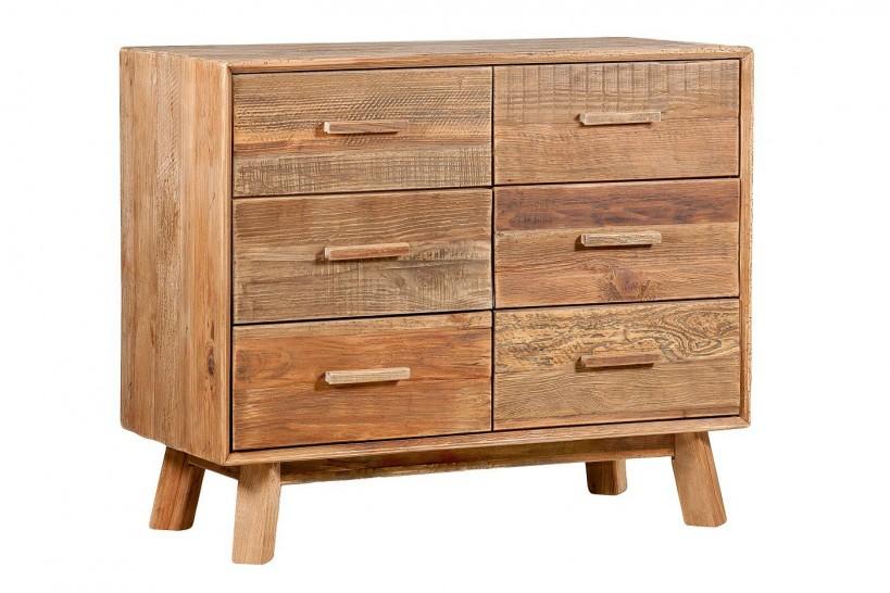 cassettiera rettangolare in legno naturale moderna per casa