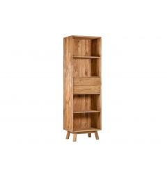 libreria con scaffali e cassetti legno massello pino