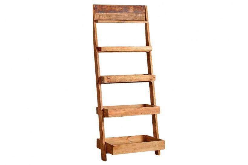 scaffale a scaletta in legno rustico