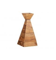 portacandele vintage legno rustico