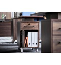 scrivania legno con cassettiera