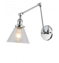 Applique lampada da parete da muro stile vintage con doppio braccio flessibile Nubi da interno
