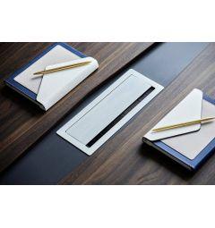 tavolo per riunione con passacavi