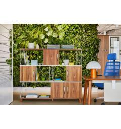 libreria a giorno ufficio in legno