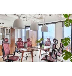 tavolo riunioni ufficio molto lungo in vero legno in stile moderno