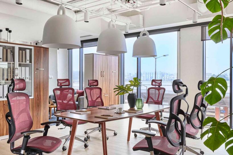 Tavoli per sala riunioni in legno design moderno lungo 2 metri