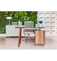 scrivania con cassettiera incorporata