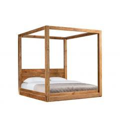 letto rustico in legno