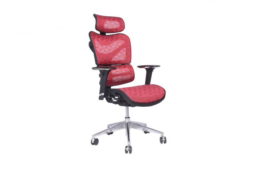poltrona pc ergonomica di colore rosso