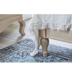 piedi del letto in legno shabby