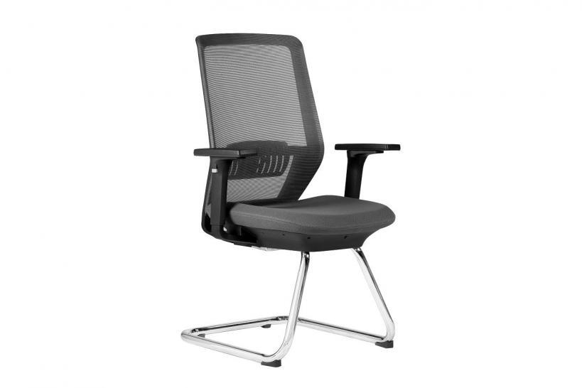 seduta ergonomica per ufficio di colore grigio