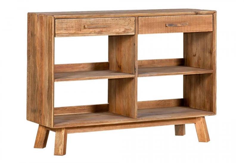 libreria bassa legno massello rustico
