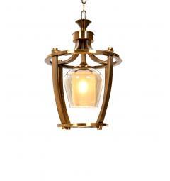 Lampada a sospensione in stile industriale vintage di metallo ottone BROOKLYN W1