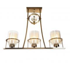 Lampada a sospensione in stile industriale vintage di metallo ottone BRONX W3