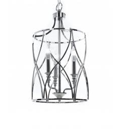 Lampadario a sospensione in stile art déco di metallo cromato ELMONT W3