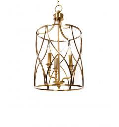 Lampadario a sospensione in stile art déco di metallo ottone ELMONT W3