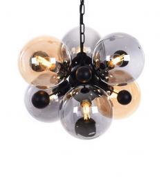 Lampadario a sospensione di design moderno 6 luci a sfere in vetro AFRODIS W6