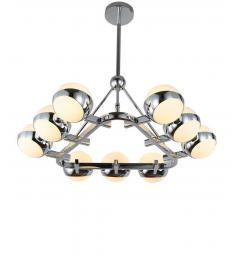 Lampadario a sospensione di design moderno OPTIMUS W9 in metallo cromato