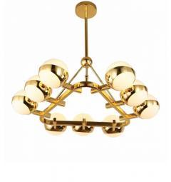 Lampadario a sospensione di design moderno in metallo OPTIMUS W9 Oro