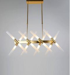 Lampadario a sospensione di design moderno ALFORD W16 Oro