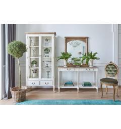 specchio con consolle in legno provenzale