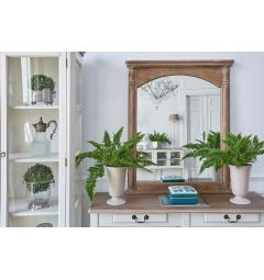 specchio da salotto in legno