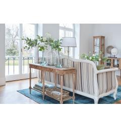 divano 3 posti in legno bianco