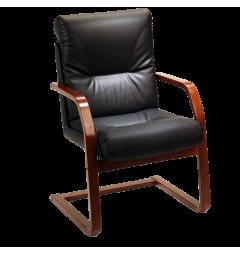 sedie sala attesa ufficio pelle e legno