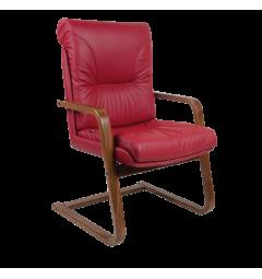 sedia da ospiti ufficio rossa pelle