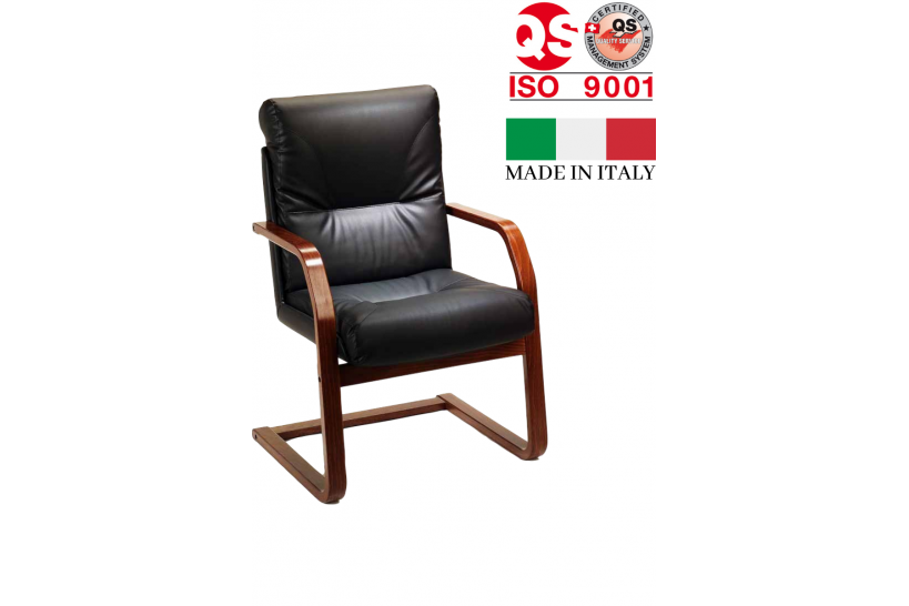 sedie attesa ufficio pelle legno