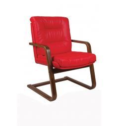 sedie ufficio rosse pelle