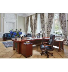 scrivania classica angolare