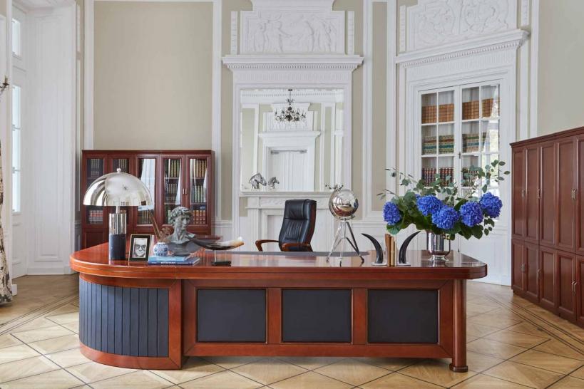 scrivania angolare classica ufficio presidenziale