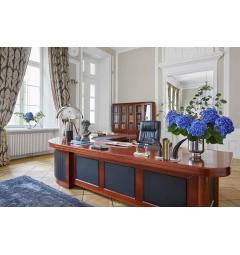 scrivania ufficio presidenziale in legno noce
