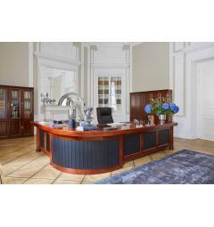 scrivania studio professionale in legno noce e ciliegio