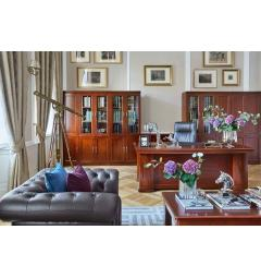 mobili ufficio lusso in legno massello noce